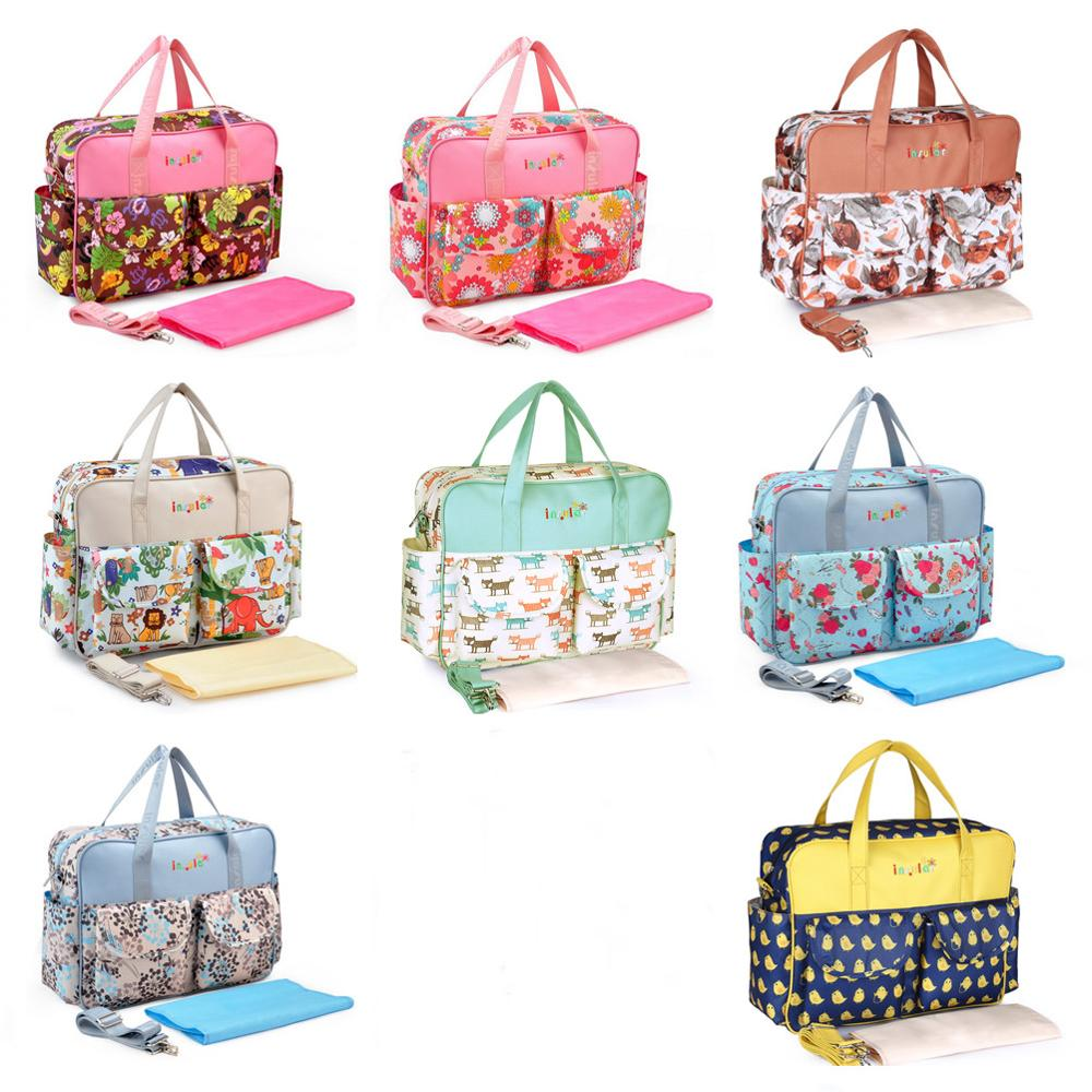 Fashionable Baby Diaper Bag Large-capacity Mother's Maternity Bag Baby Stroller Nappy Bag Waterproof Travel Mummy Bag