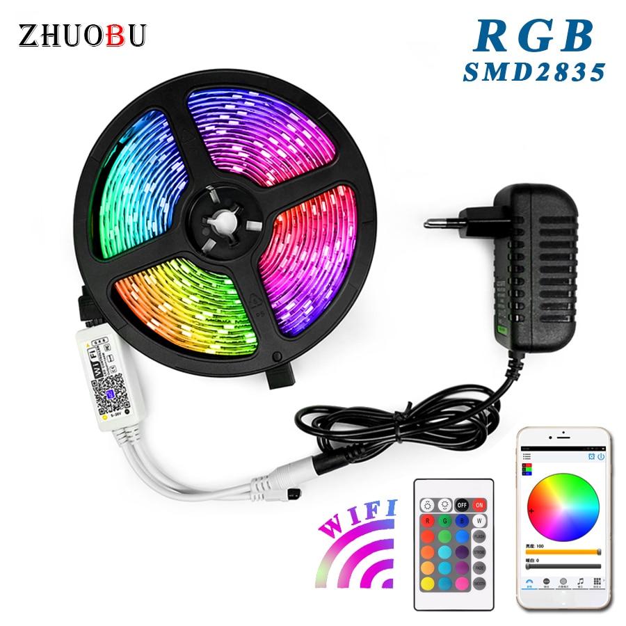 Waterproof RGB Led Strip 2835 5M 10M 15M LED String DC12V Fiexble Light Led Ribbon Tape LED String Lights Tape Holiday Lighting