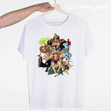 One Piece Luffy Ace Sabo Law Zoro And Nami Japanese Anime T-shirt O-Neck Short Sleeves Summer Casual Fashion Unisex Men And Wom(China)