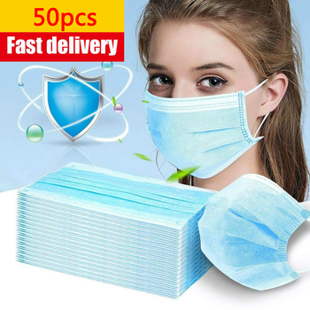 10/20/50/100PCS fast shipping Filter Safety DustFaceMask Disposable Protect 3 Ply Non-woven MeltblownMasks - discount item  56% OFF Workplace Safety Supplies
