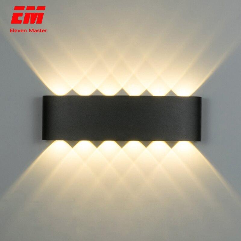 Lámpara de pared nórdica Ip65 Led de aluminio al aire libre arriba abajo luces de pared modernas para el hogar escaleras dormitorio cabecera baño iluminación ZBW0010