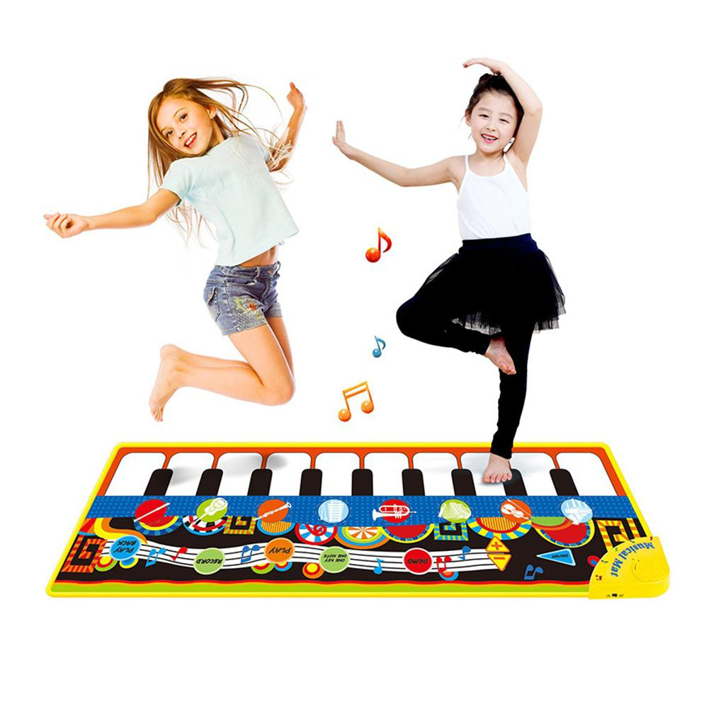 Children's Kids Music Game Carpet Flash Piano Mat Piano Pad Pedal Dance Blanket Toy Gift