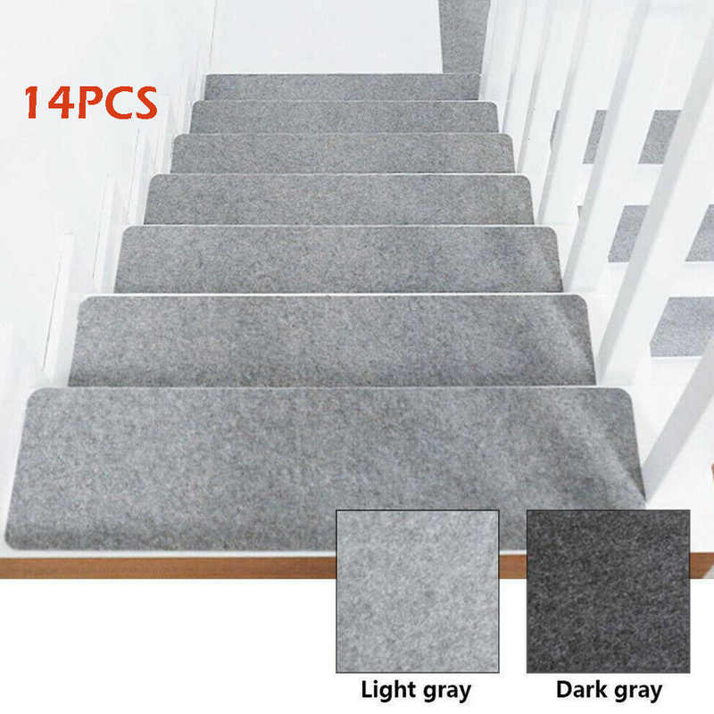 14Pcs Set Stair Tread Carpet Mats Self Adhesive Floor Mat Door Mat | Carpet Cover For Stairs | Flooring | Stylish | Cheap | Diamond Pattern | Patterned