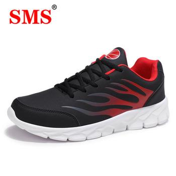 SMS Man lekkie buty do koszykówki oddychające antypoślizgowe buty do koszykówki mężczyźni sznurowane siłownia botki buty kosz Homme tanie i dobre opinie STRONGSHEN CN (pochodzenie) Średnie (b m) Niskie RUBBER Na płótnie heshiB08(456g) Formotion Lace-up Spring2019 Pasuje prawda na wymiar weź swój normalny rozmiar