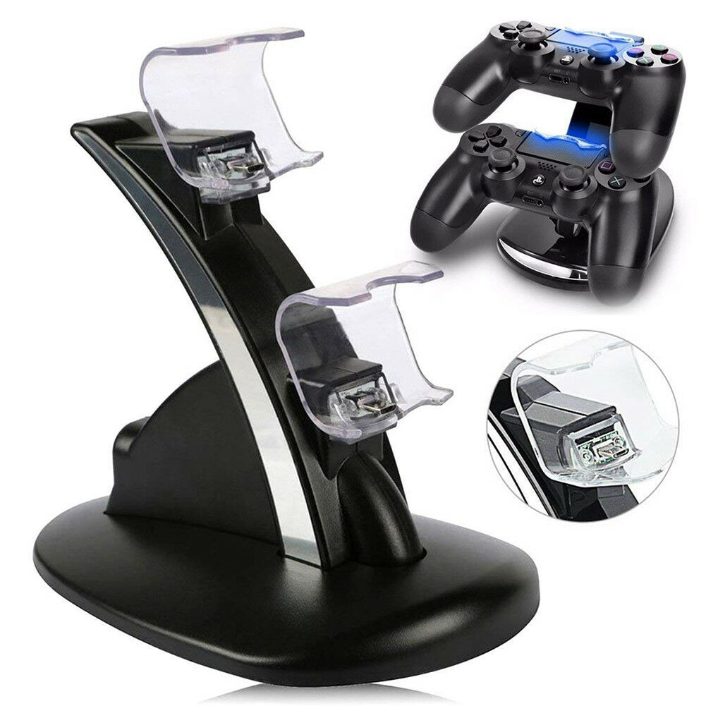 Controller Charger Dock LED Dual USB PS4 Charging Stand Station Cradle for Sony Playstation 4 PS4 / PS4 Pro /PS4 Slim Controller 2