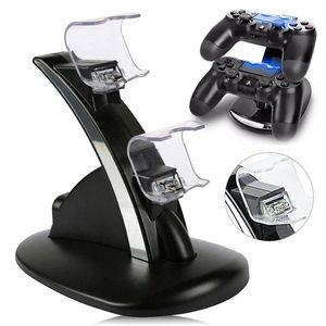 Image 2 - Contrôleur chargeur Dock LED double USB PS4 socle de charge Station berceau pour Sony Playstation 4 PS4 / PS4 Pro /PS4 contrôleur mince