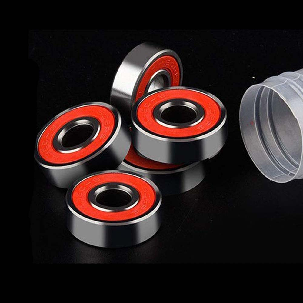 5PCS Stainless Steel Bearings Red Silver ABEC 9 High Performance Roller Skate Scooter Skateboard Wheel Bearings