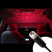 Night Lights Car Roof Star Interior decorative USB LED Laser projector With Clouds Starry sky Lighting effects mini Creative