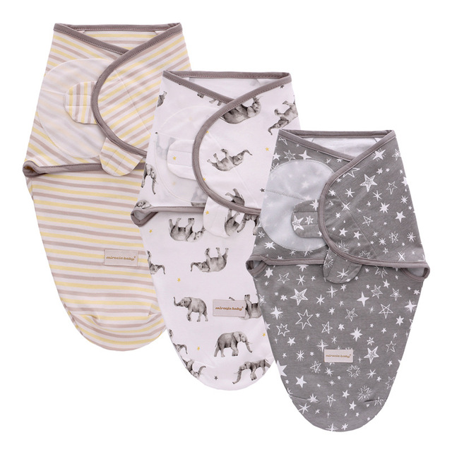 3Pcs Set Newborn Swaddle Wrap Cotton Baby Swaddling Sleeping Bag Infant Envelope Sleep Sack Bedding For 0-6 Months 3