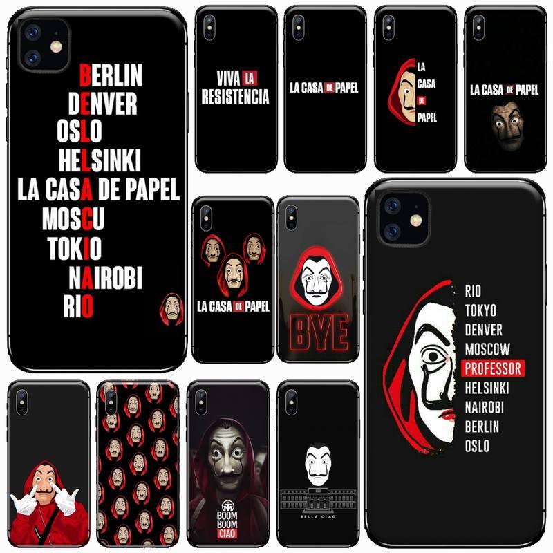 Spain TV Money Heist House Paper Phone Case For IPhone 11 12 Pro XS MAX 8 7 6 6S Plus X 5S SE 2020 XR
