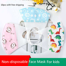 10pcs Children masks  Non-disposable cartoon kids n95 cotton dust baby mask