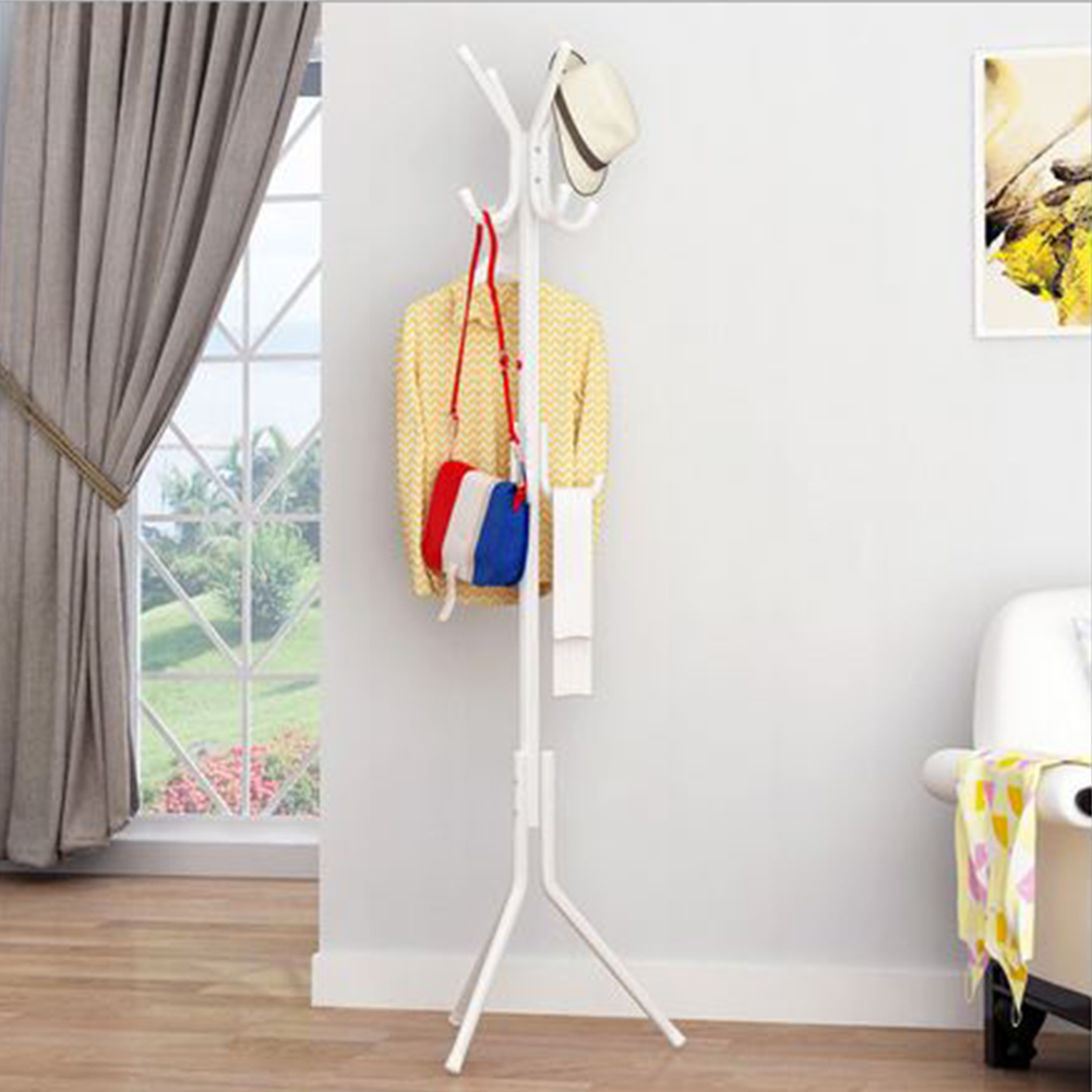 Steel +plastic Hanging Coat Rack Hat Scarf Metal Rack Organizer Hanger Hook Stand For Purse Handbag Clothes Umbrellas