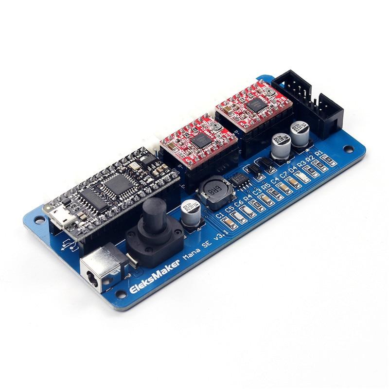 EleksMaker New ManaSE 2-axis Stepper Motor Driver Laser Controller Board DIY Engraver High Quality