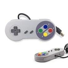 1 adet USB Gamepad oyun denetleyicisi oyun Joystick denetleyicisi için SNES oyun pad için Windows PC MAC bilgisayar kontrol Joystick