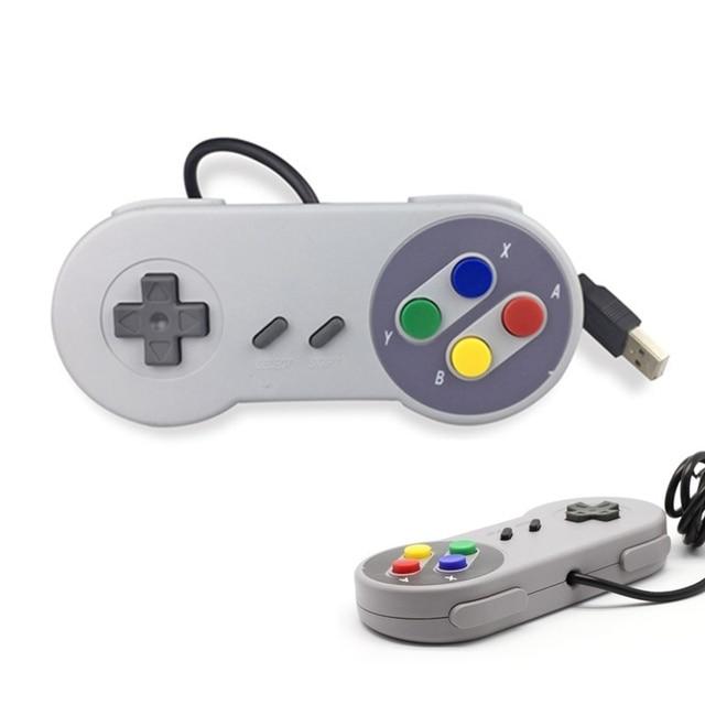 Controle de jogos usb para snes, joystick para computador windows, pc, mac, controle de videogame, 1 peça