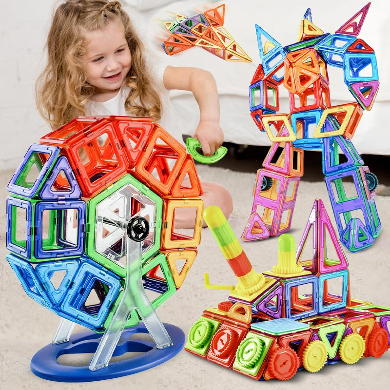 Zkzc tamanho grande ímã designer magnético blocos de construção 180 pçs conjunto construção bircks magnético diy brinquedos para crianças presentes