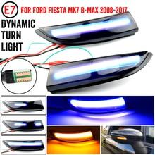 Dynamic Turn Signal Light Fit For Ford Fiesta MK6 VI /UK MK7 2008 17 B Max 2012 2017 Flowing Water Blinker Flashing Light