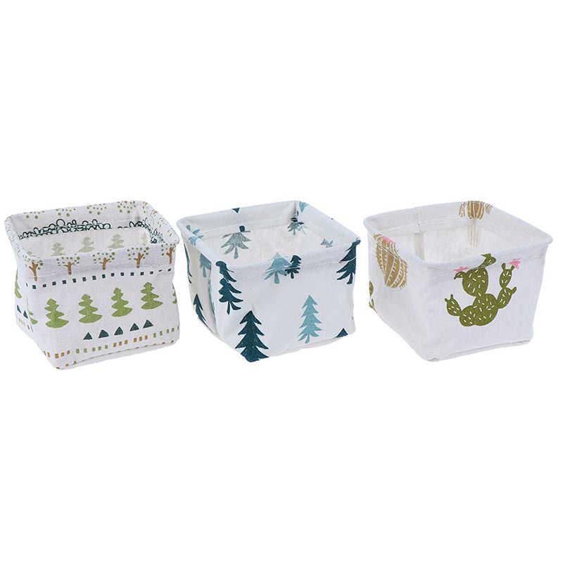 Faltbare Lagerung Bin Schrank Spielzeug Box Tuch Container Organizer Stoff Korb Hause Desktop Storage Korb Taschen Dropship