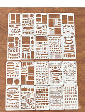 12pcs Bala Planejador Diário Stencil Set Plástico Modelo de Desenho DIY Diário Jornal Planner Notebook Diário Recados