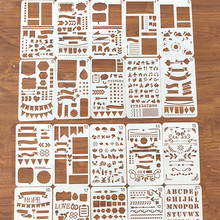 Journal-Stencil-Set Planner Scrapbook Notebook Diary Drawing-Template Bullet DIY Plastic