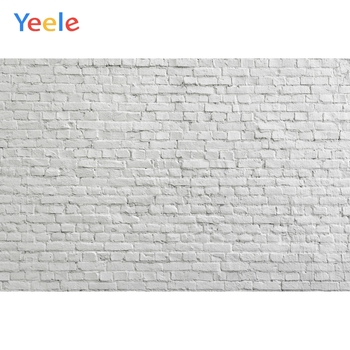 White Brick Wall Vintage Backdrop Vinyl Photography Backdrops Photographic Background For Photo Studio Photophone Photozone Prop laeacco happy easter day flags chick haystack brick wall home decor scene photography backdrop photo background for photo studio