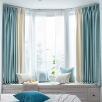 2020 New Modern Simple Multicolor Curtains for Living Room Finished Custom Luxury Cotton and Linen Curtains for Bedroom