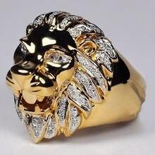 Кольцо fdlk в стиле панк с головой льва мужское обручальное