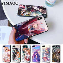 Sword Art Online SAO Japan anime Silicone Case for iPhone 5 5S 6 6S Plus 7 8 11 Pro X XS Max XR