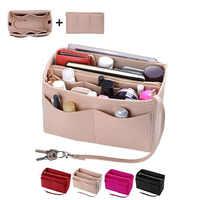 HHYUKIMI Brand Make up Organizer Felt Insert Bag For Handbag Travel Inner Purse Portable Cosmetic Bags Fit Various Brand Bags