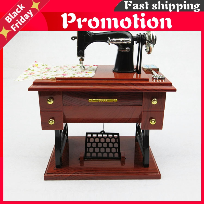 Sewing Machine Music Box Home Decoration Valentines Day Gift for Girlfriend Caja Musical Boite A Musique Muziekdoosje Pozytywka