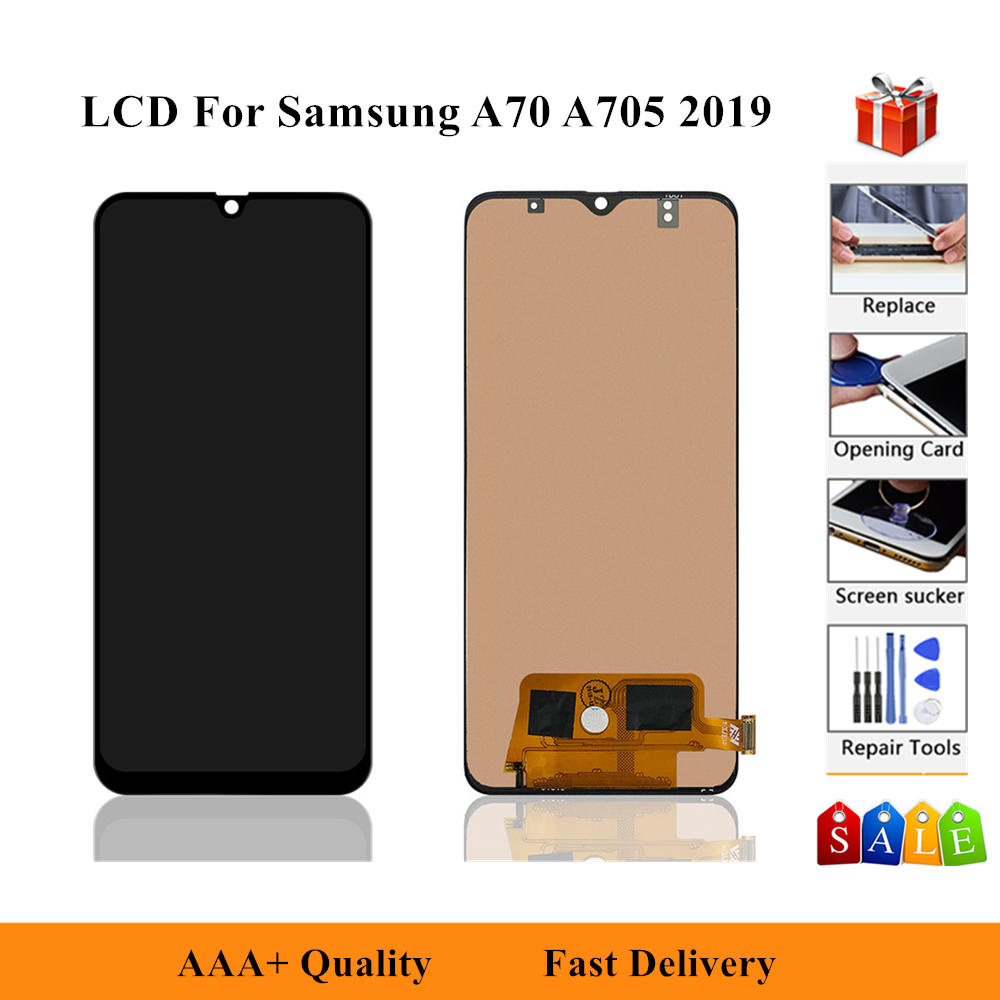6.7'' Display For <font><b>Samsung</b></font> Galaxy A70 2019 A705 A705F SM-A705F A705DS LCD Display Touch Screen Digitizer Assembly Replacement image