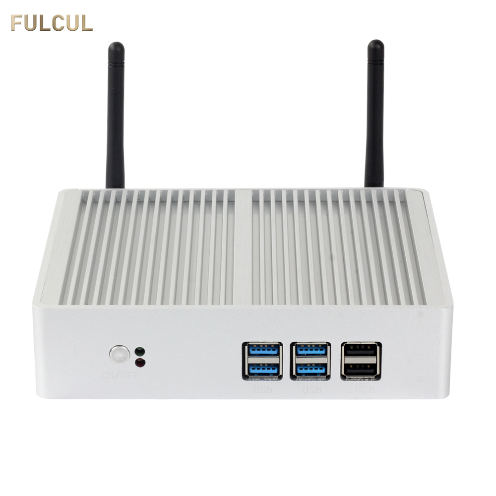 Fan/Fanless Intel Core I3 7100U I5 7200U I7 Mini PC 4K HDMI VGA 6*USB 300Mbps WiFi HTPC Micro Desktop Computer Windows Linux