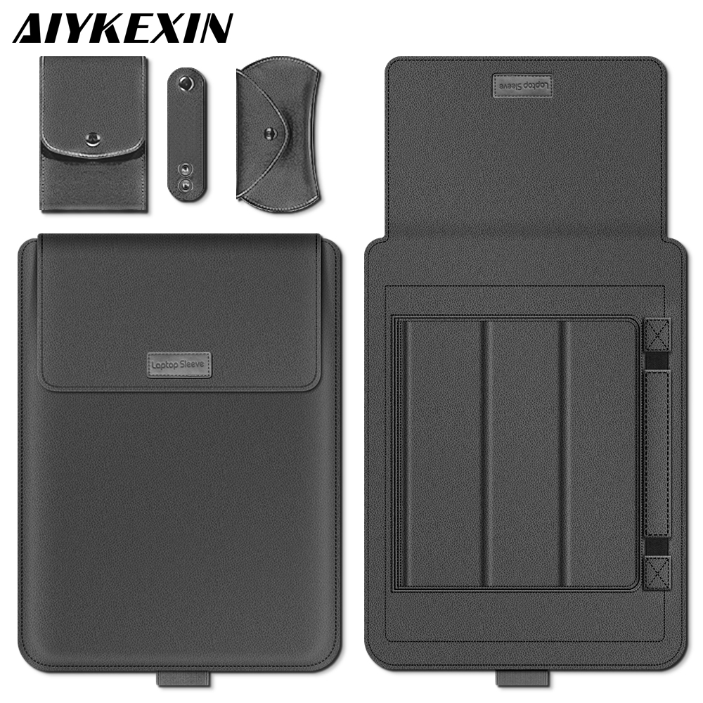AIYKEXIN Universal PU Leather Soft Sleeve Bag Case For Macbook Air Pro Retina 11 12 13 15 for Laptop Cover For Macbook 13.3 Inch