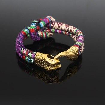 Мужские ретро браслеты в форме змеи