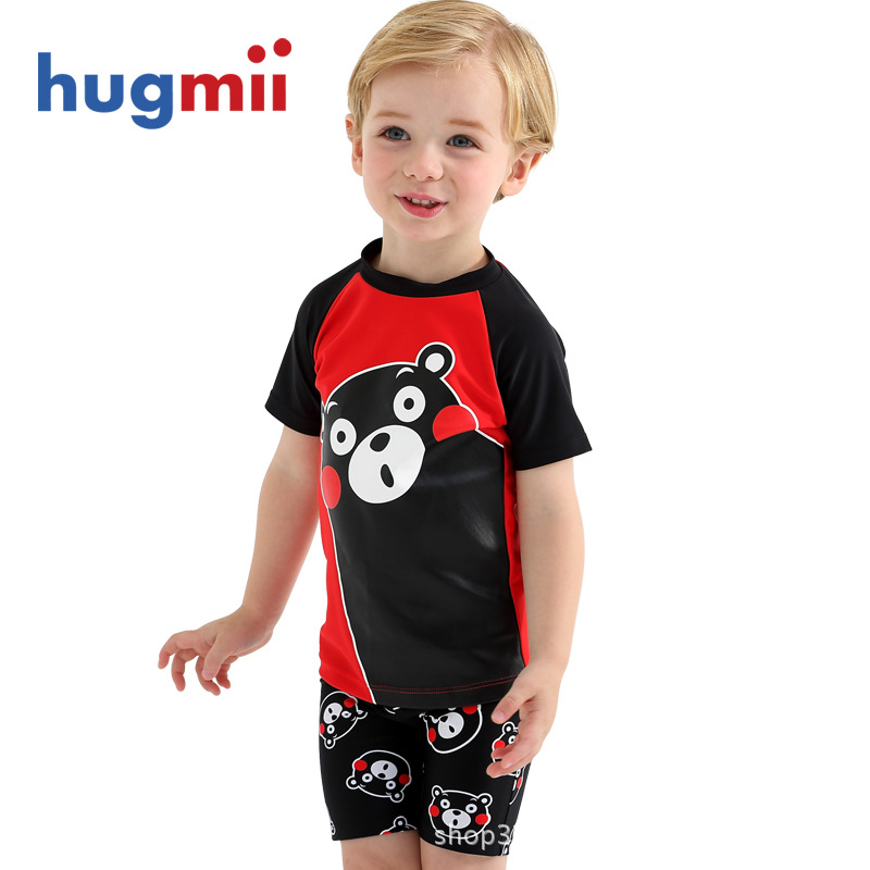 Hugmii Children Two-piece Swimsuits Kumamoto Bear Cool MA Meng Men And Women Children Kids Baby BABY'S Bathing Suit Swimming Tru