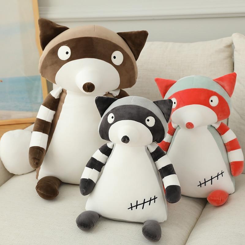 50/80 см енот, плюшевое животное, игрушка, пересечение мультфильмов, фигурка, плюшевая кукла, мягкие игрушки, детские подарки, игрушки, медведь,...