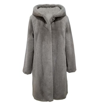شتاء جديد المنك معطف المرأة حجم كبير M-5XL فوق الركبة ماء المخملية الفراء معاطف أنثى متوسطة طويلة سميكة الفراء الفراء 1
