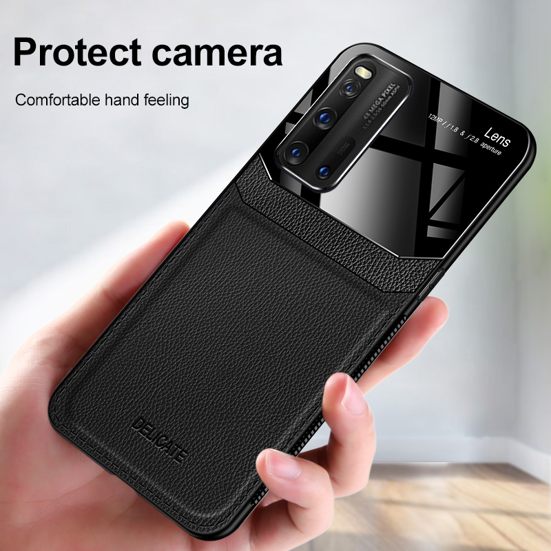 For Vivo IQOO 3 Luxury PU Leather Case For Vivo IQOO 3 5G Case For Vivo Z6 5G Camera Lens Protection Cover Case Coque