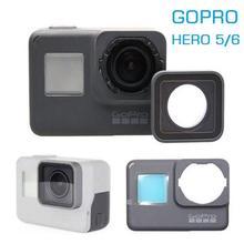 Per GoPro Hero 4 5 7 8 accessori originali cornice per fotocamera GoPro/porta anteriore/frontalino/pannello/lente in vetro con filtro UV/borsa per coperchio batteria