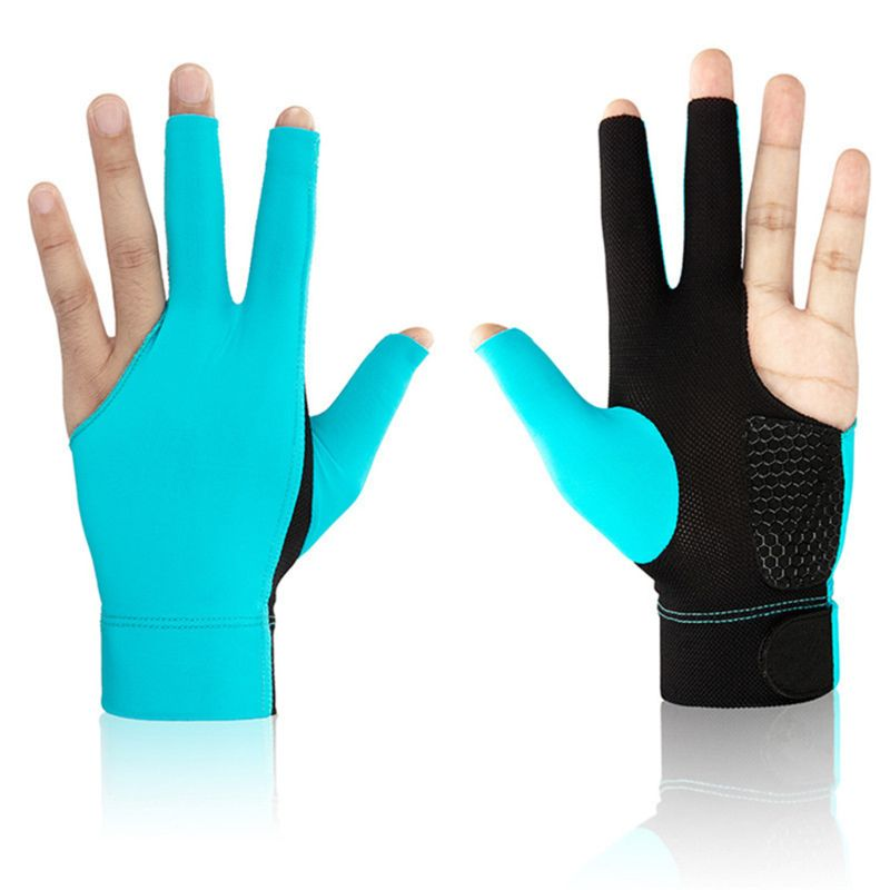 Lycra Anti Skid Three Finger Gloves Snooker Billiard Cue Glove Pool Left Hand High Elasticity For Unisex