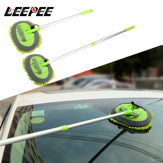 Dust Wax Mop Car Washing Mop Car Cleaning Window Wash Tool Auto Care Detailing Adjustable Soft Car styling Car Accessories