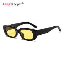 2020 Small Rectangle Sunglasses Women Brand Designer Leopard