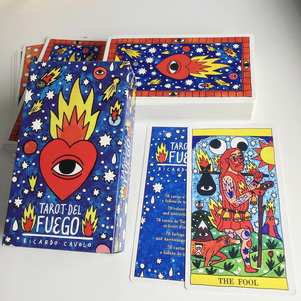 Tarot Del Fuego Cards Tarot For Deck Oracles Guide Game Toy Fournier Tarot Del Fuego Por Ricardo Cavolo Baraja De Color Azul