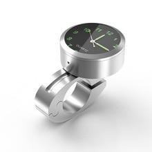 Универсальные часы на руль мотоцикла, 7/8 дюйма, водонепроницаемые часы с креплением на руль велосипеда, мотора, мотора, мотовездехода