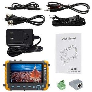 Image 5 - 5 بوصة TFT LCD 1080P 5MP 4MP 4 في 1 TVI العهد السيدا النظير CCTV تستر الأمن فاحص الكاميرا رصد HDMI المدخلات الصوت اختبار