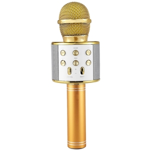 Image 2 - Wireless Karaoke Microphone Portable Bluetooth mini home KTV for Music Playing Singing Speaker Player PHONE PC Purple/Blue/Gold