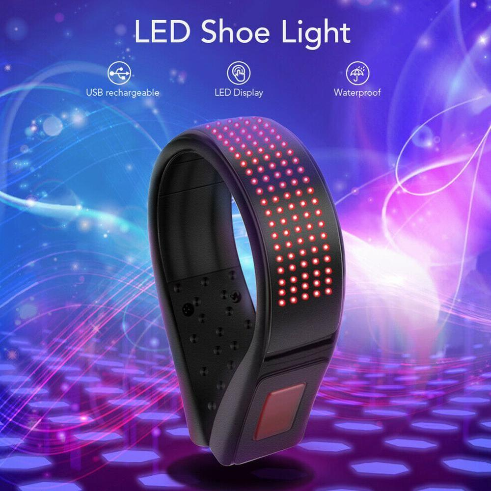 Magic LED Screen Shoe Clips For Party Dj LED Shoes Clip Safety Warning Light For Night Running Outdoor Sports Luminous Shoe Clip