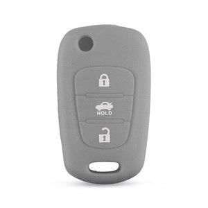 Image 5 - Keyyou Silicone 3 Nút Flip Remote Key Fob Ốp Lưng Cho Xe KIA K2 K5 Pro Ceed Hyundai I20 I30 i40 Santa Chìa Khóa Ô Tô