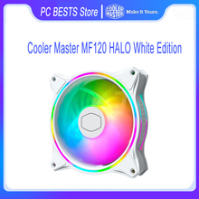 Cooler Master MF120 HALO Weiß Edition 12CM 5V PWM Dual Schleife Adressierbare RGB Beleuchtung Computer Fall CPU Kühlung leise Lüfter