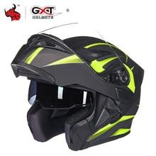 GXT kask motocyklowy z unoszoną szybą kaski motocrossowe mężczyźni pełna twarz Moto kaski motocyklowe Capacete Casco Moto z podwójnym obiektywem